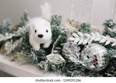 Office decor for christmas Clever Christmas Decoration Home Interior Or Office Decor And Props For Christmas Photo Shoot Toys Shutterstock Christmas Decoration Home Interior Office Decor Stock Photo edit