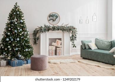 christmas decoration house white color palette