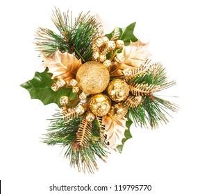 Christmas decoration. isolated on white background