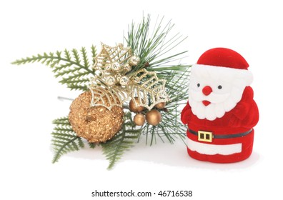 christmas decoration isolated on white