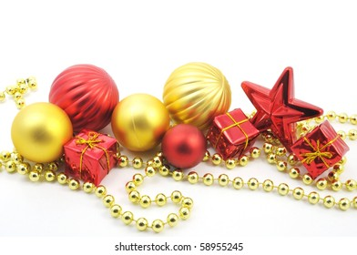 christmas decoration isolated on a white background