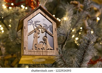 Christmas decoration with Joseph and Mary