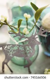 Christmas decoration with mistletoe