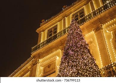 Christmas decoration at night