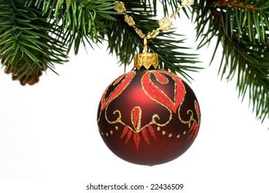 christmas decoration on a fir-tree