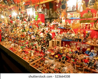 Christmas decoration on the Christmas Market or Weihnachtsmarkt in Nuremberg, Germany.