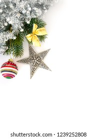 A Christmas decoration on white background