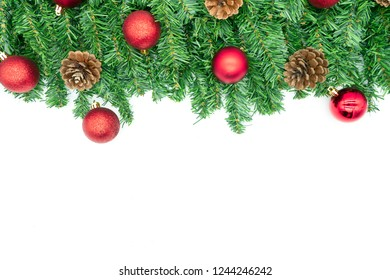Christmas decoration on a white background isolated