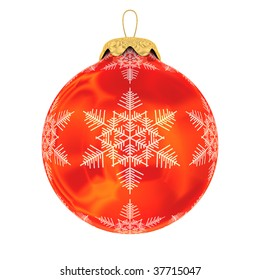 Christmas decoration on white background. Isolated 3D image