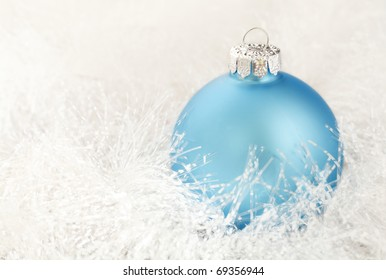 Christmas decoration on a white garland