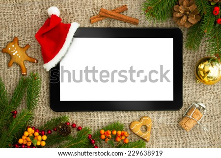 Christmas Decoration Online Recipe Gingerbread Cookies Stock Photo