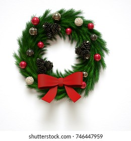 Christmas decoration red 3d illustration