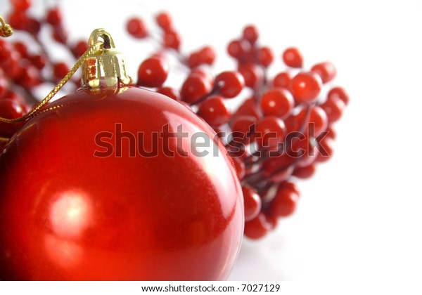 Christmas decoration - red ball