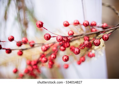 Christmas Decoration with Red Cherry