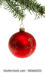 Christmas decoration, red Christmas tree ball