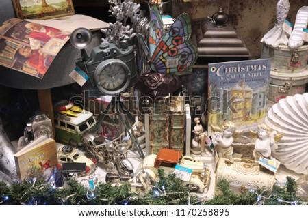 Christmas Decoration Shop Window Gifts Holidays Stock Photo Edit