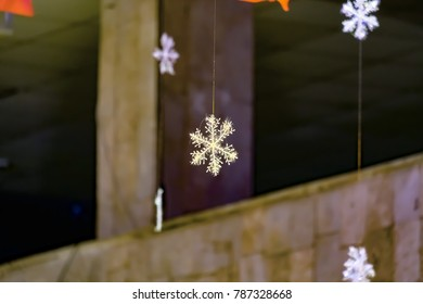 Christmas decoration - snow, Moscow region, Odintsovo, Russia