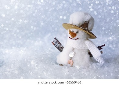 Christmas decoration -snowman with snow