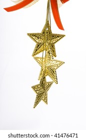 Christmas decoration star on a white background
