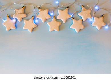 Christmas decoration. stars with garland