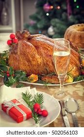 Christmas decoration table setting