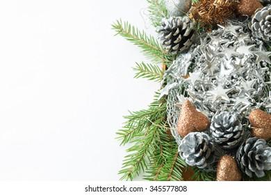 Christmas decoration with Christmas tree -FRAME