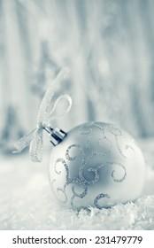 christmas decoration for christmas tree on a table