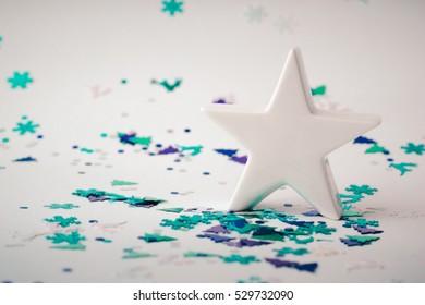 Christmas decoration  - white star