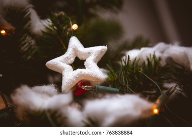 Christmas decorations in ambient climate light