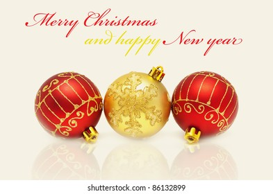 Christmas Decorations Balls On White Background Stock Photo Edit