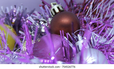 Christmas decorations, colorful balls