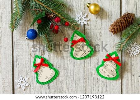 Christmas Decorations Christmas Gift Handmade Paper Stock Photo