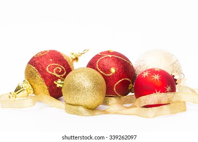 Christmas decorations isolated