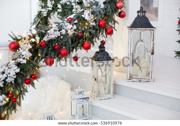 Christmas Decorations Lanterns Stock Photo Edit Now 536910976