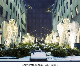Christmas decorations in NY