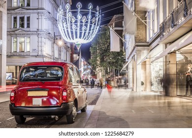 Christmas decorations on London streets