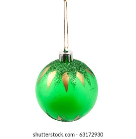 Christmas decorations on the Christmas tree on a white background