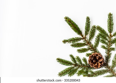 Christmas  decorations on a white background.