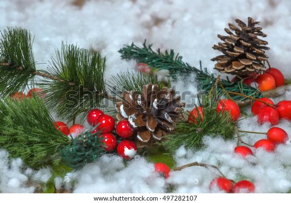 Christmas Decorations Pine Cones Stock Photo Edit Now