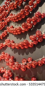 Christmas decorations, red balls
