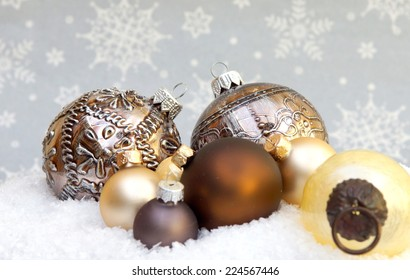 Christmas decorations with room for copy space