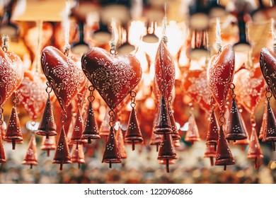 Christmas decorations in Salzburg Christmas Market