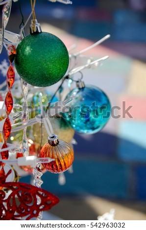 Christmas Decorations Spanish Art Village Balboa Stock Photo (Edit ...