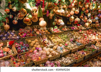 Christmas decorations in Wien Rathaus Market, Austria.