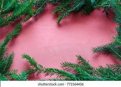 Christmas design - Merry Christmas. Rectangular frame