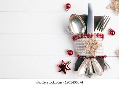 Christmas dinner menu background