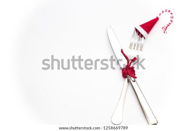 Christmas dinning table setup