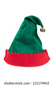 Christmas elf hat isolated on white background