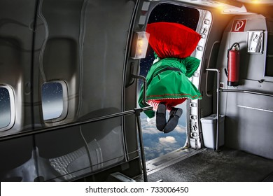 christmas elf jump off the airplane