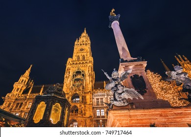 Christmas fair in the Marienplatz in Munich, Germany
